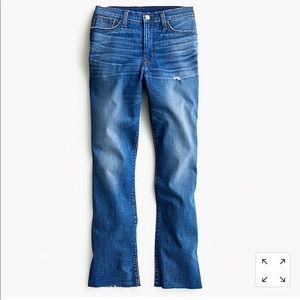 J.Crew Petite Demi Boot Crop Jean in Medium Wash